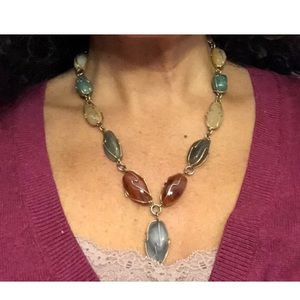 Jewelry - Vintage Beaded Style Multicolor Stone Necklace